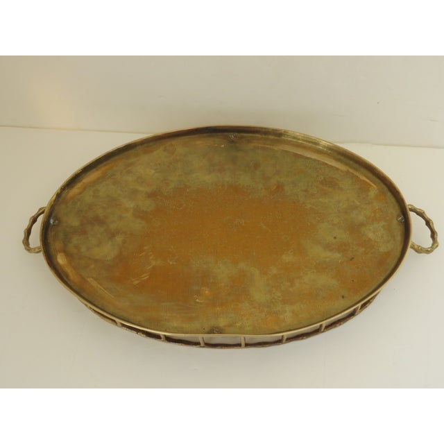 Brass Bamboo Tray For Sale In Los Angeles - Image 6 of 7