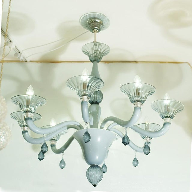 Hand blown grey colour glass. Made in Murano Italy MEASUREMENTS Height: 100cm diameter: 90cm Shipping to USA $400