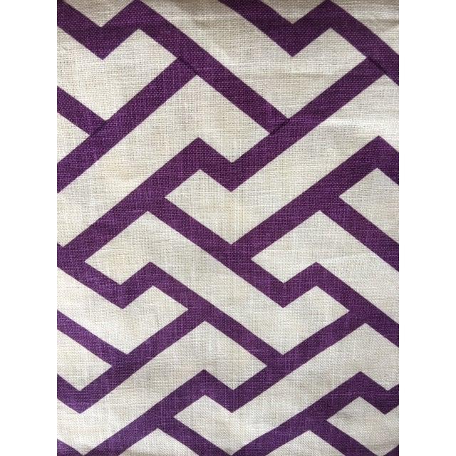 "Quadrille /China Seas ""Aga"" Print Linen Purple Fabric For Sale"