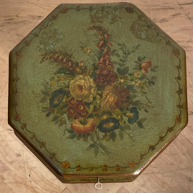 Early 19th Century English Regency Painted Sewing Box, Circa 1810 For Sale - Image 5 of 8