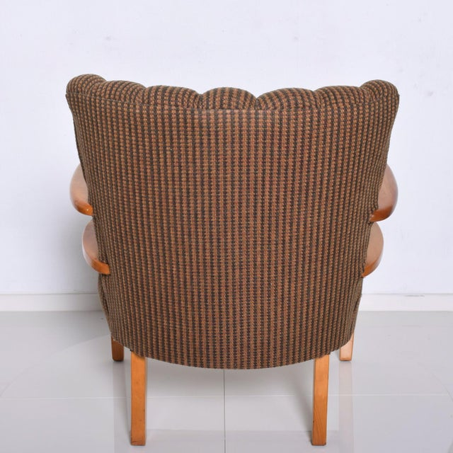 Wood 1950s Mid Century Modern Heywood Wakefield Maple Lounge Chair For Sale - Image 7 of 12