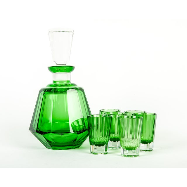 Early 20th Century Early 20th Century Daum Cut Crystal Liqueur Set - Set of 7 For Sale - Image 5 of 5