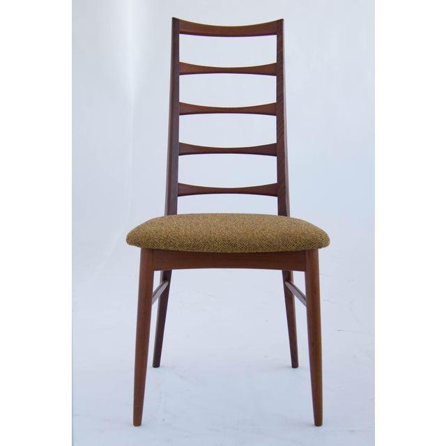 Koefoeds Hornslet Set of Koefoeds Hornslet Teak Ladder Back Dining Chairs For Sale - Image 4 of 11