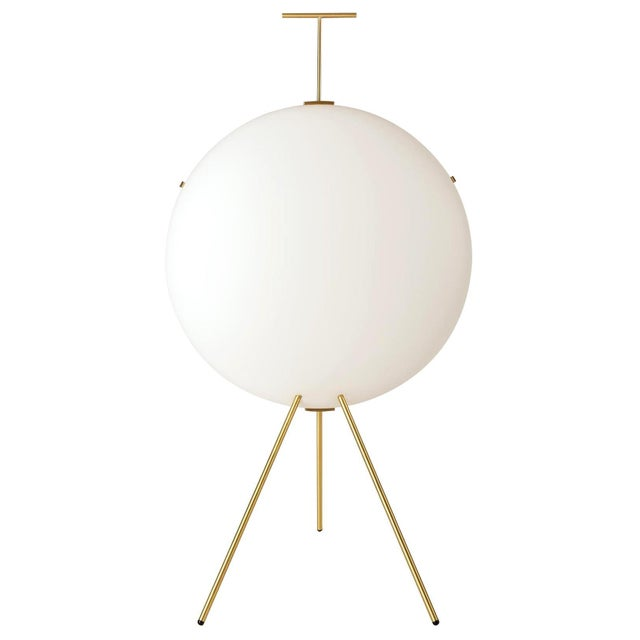 Gio Ponti Luna Verticale Floor Lamp in Brass For Sale In Los Angeles - Image 6 of 6