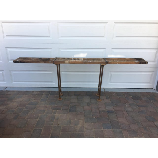 Antique Scaffolding Table For Sale - Image 5 of 11