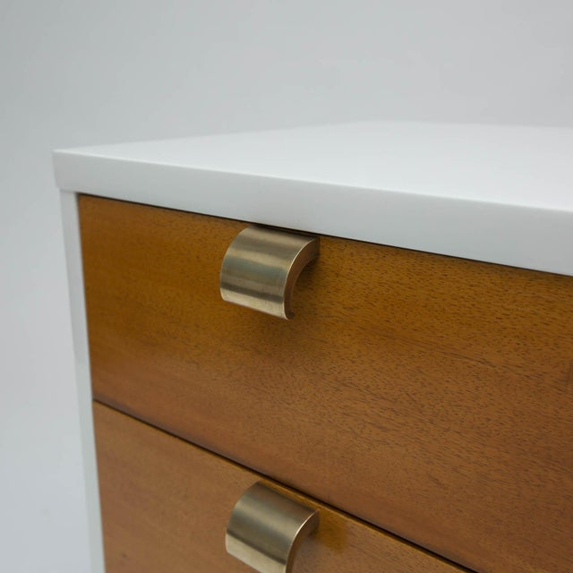 Mid 20th Century Mid-Century Modern Lacquered Three-Drawer Nightstand For Sale - Image 5 of 8