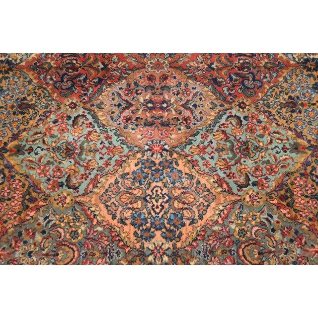 Maroon Karastan 8.8x12 Multicolor Panel Kirman Room Size Rug # 717 For Sale - Image 8 of 13