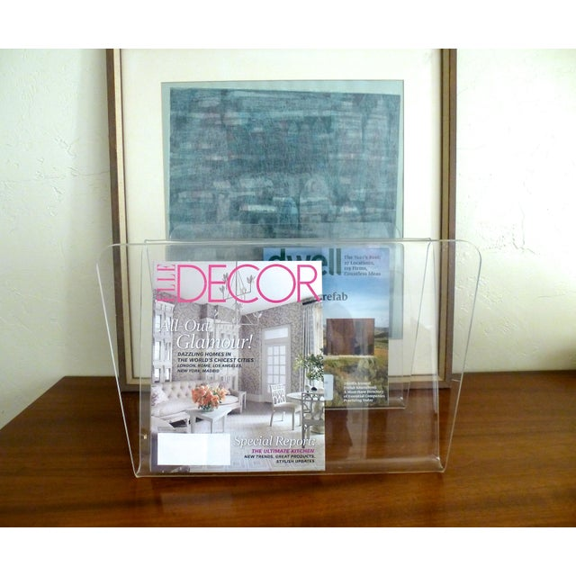 Lucite W Magazine Holder - Image 4 of 6