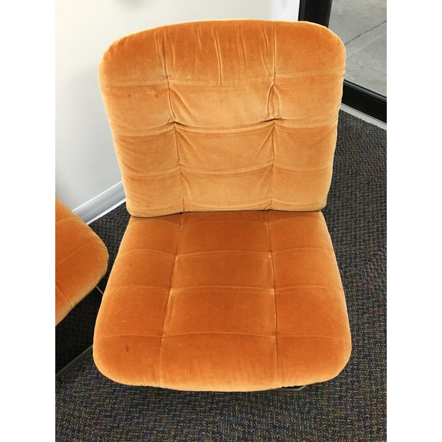 Mid-Century Modern 1970s Vintage Roche-Bobois Cantilevered Chairs- Set of 4 For Sale - Image 3 of 12