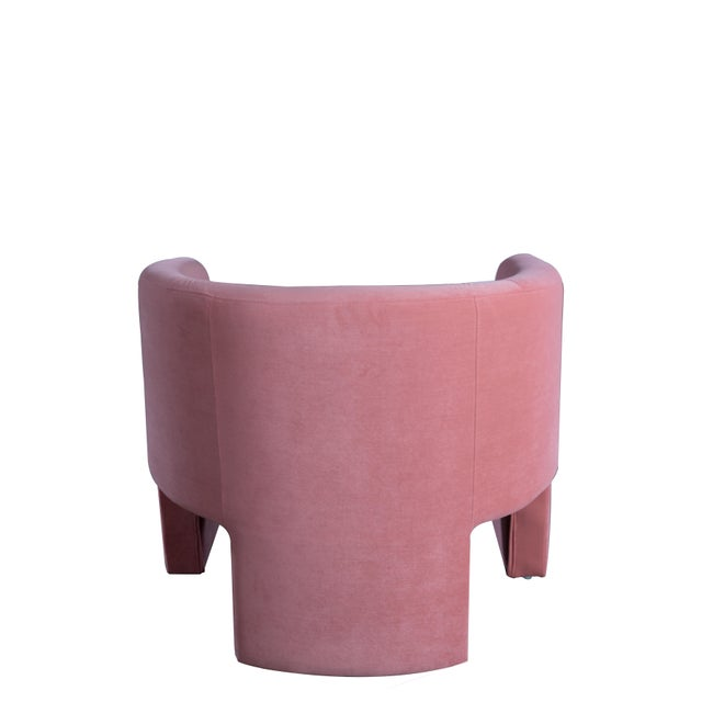 Leblon Barrel Chair in Rose For Sale - Image 4 of 6