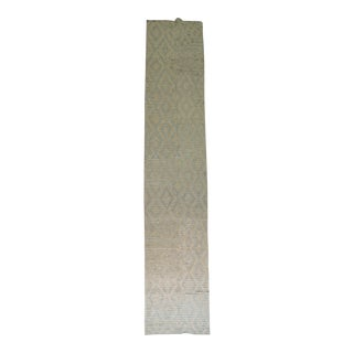 Vintage Turkish Tulu White and Blue Runner, 3'5'' x 17'9'' For Sale