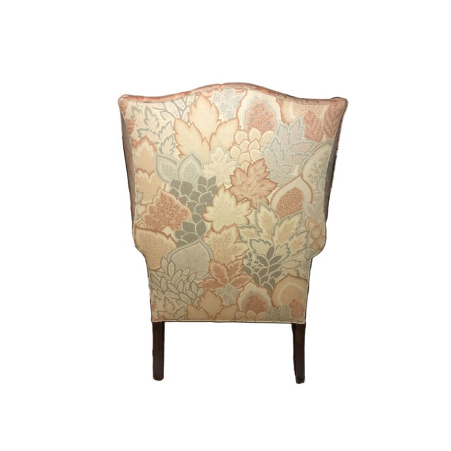 English Traditional 20th Century George III Style Wingback Chair For Sale - Image 3 of 5