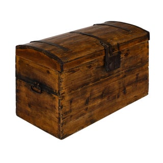 French Antique Steamer Trunk For Sale