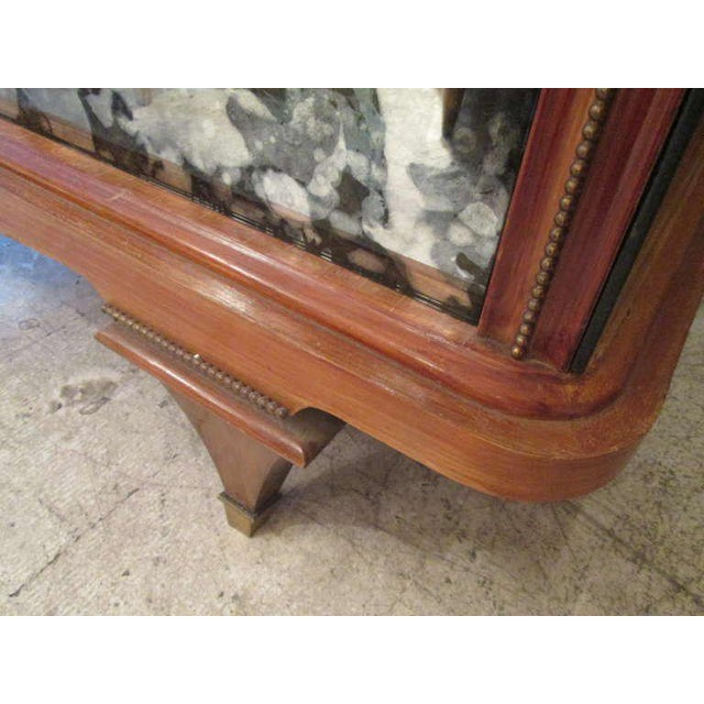 Brown Whimsical Italian Mirrored Chest of Drawers For Sale - Image 8 of 9