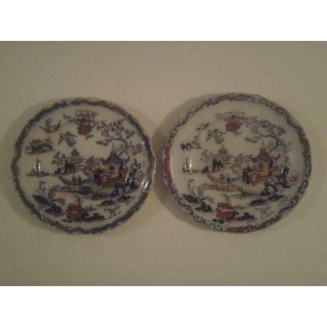 Antique Polychrome Decorated Plates - A Pair - Image 2 of 7