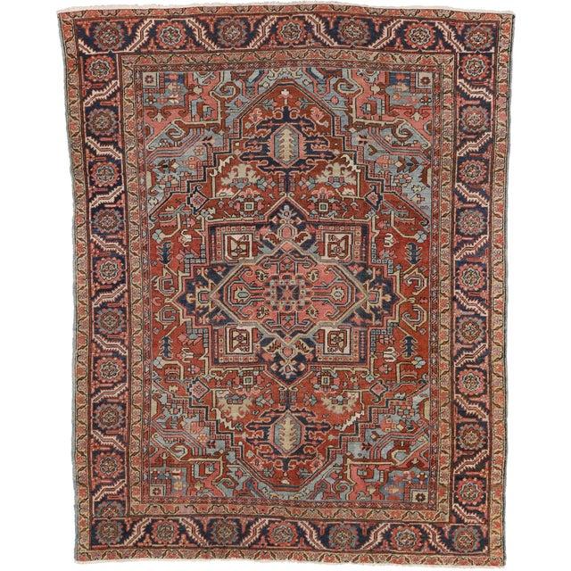 """Antique Persian Heriz Rug - 8' x 10'1"""" - Image 6 of 7"""