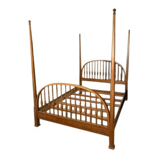 American Queen Red Oak Spindle Bed From Virginia House For Sale