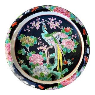Vintage Chinese Porcelain Birds of Paradise Floral Motif Bowl Planter For Sale