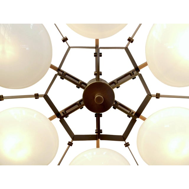 Metal Beehive Flush Mount by Fabio Ltd For Sale - Image 7 of 10