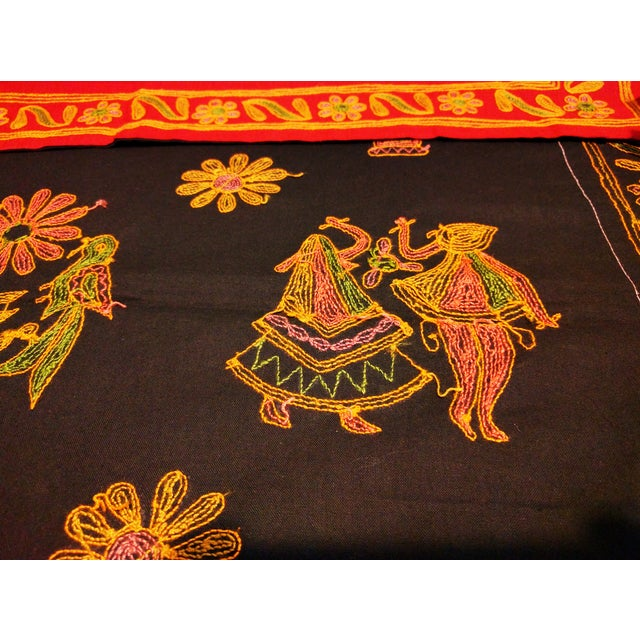 Ethnic Indian Embroidered Tapestry - Image 6 of 6