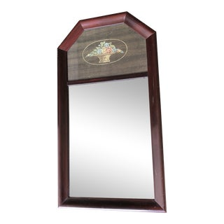 1920's Wood Framed Trumeau Mirror For Sale