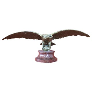 20th Century Italian Eagle in Bronze on a Marble Base, 1940s For Sale