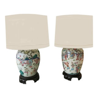 Early 20th Century Chinese Exports Vase Lamps - a Pair For Sale