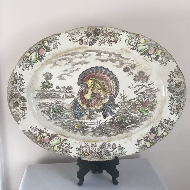 Japanese Transferware Turkey Platter For Sale - Image 9 of 9