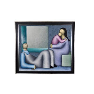 Modernist Family Portrait by Mexican Modernist For Sale
