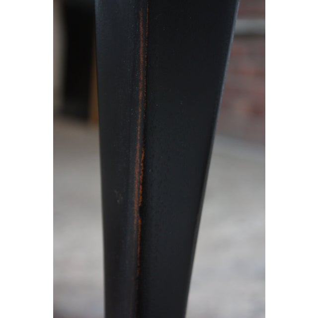 Pair of Mahogany and Ebonized Walnut Chippendale-Style Tall End Tables For Sale - Image 11 of 13