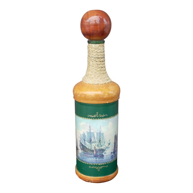 Glass & Leather Italian Decanter - Image 1 of 3