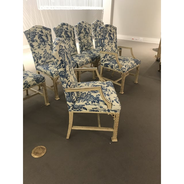 1990s 1990s Vintage Century Chinoiserie Chippendale Dining Chairs- Set of 8 For Sale - Image 5 of 11