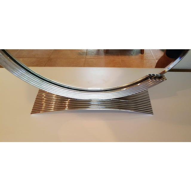 Art Deco Chrome Art Deco Style Table Mirror For Sale - Image 3 of 5