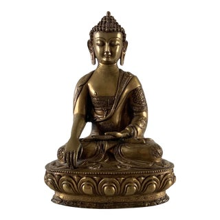 Large Bronze Shakyamuni Buddha Statue For Sale