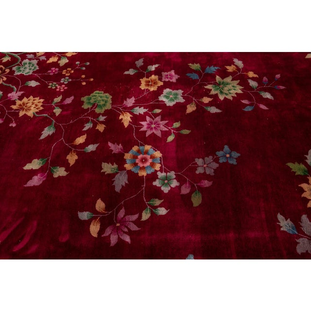 Early 20th Century Antique Art Deco Chinese Wool Rug 9 X 11 For Sale - Image 12 of 13