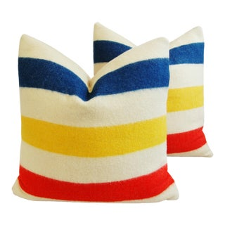 Hudson's Bay Camp Blanket Down Feather Pillows- A Pair
