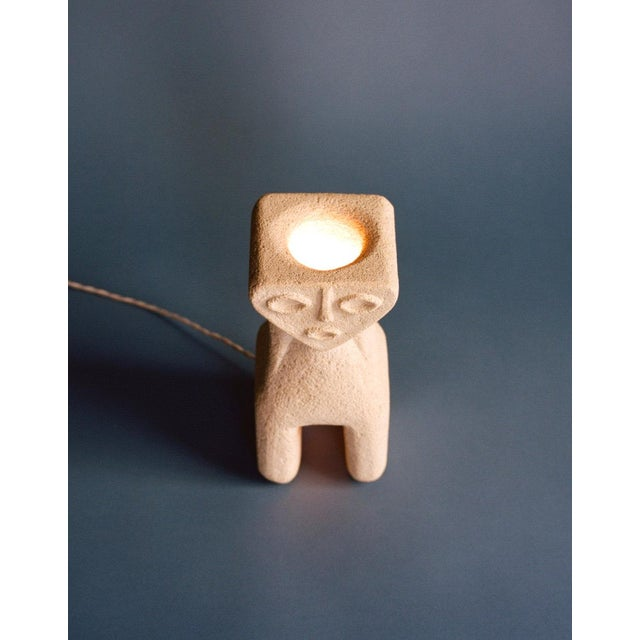 Boho Chic 1970s Albert Tormos Figural Stone Lamp For Sale - Image 3 of 4