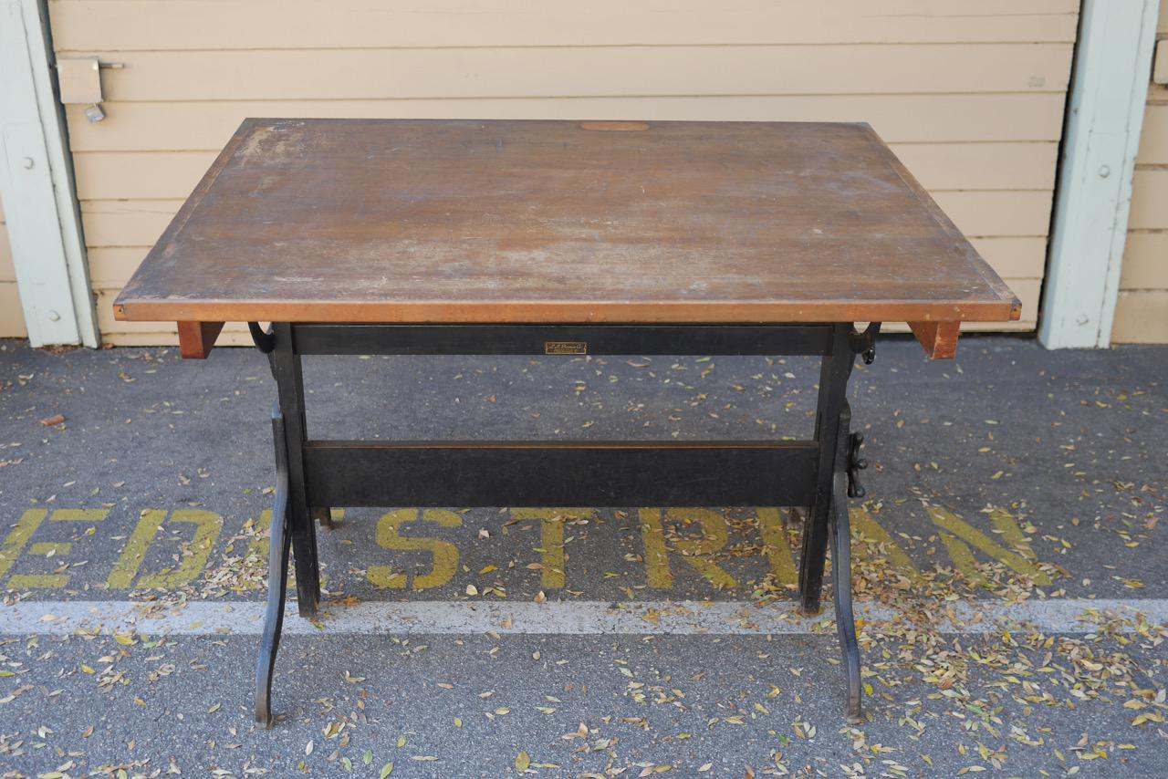 Vintage L M Prince Co Drafting Table Chairish