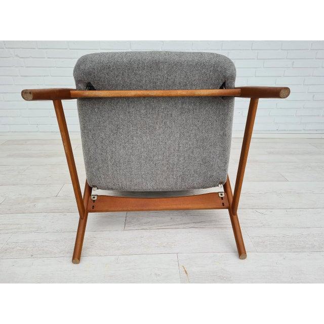 Danish Design by Alf Svensson, Model Kontour, 70s, Completely Renovated-Reupholstered For Sale - Image 10 of 13