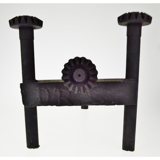 Early Folk Art Antique Ford Motor Company Model T/Model a Axle Shaft Chenets Andirons- a Pair For Sale - Image 4 of 13