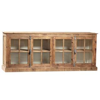 Reclaimed Pine Glass Door Sideboard