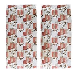 Mid-Century Modern Bark Cloth Drapes - a Pair For Sale