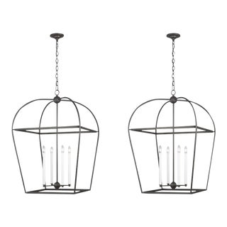 Visual Comfort Stonington Steel Lanterns - a Pair For Sale