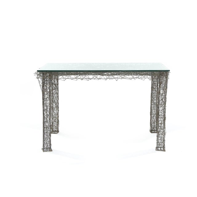 1970s Mid-Century Modern William De Lillo Wire Rod Console or Dining Table For Sale In Phoenix - Image 6 of 10