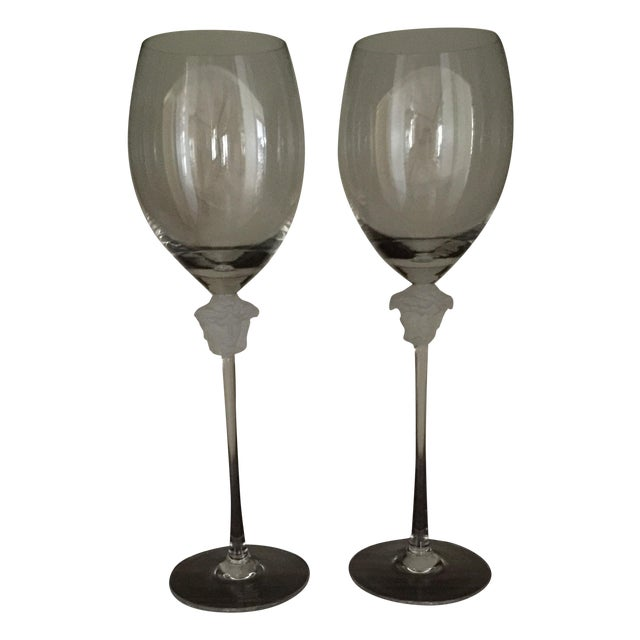 Versace Wine Goblets - A Pair - Image 1 of 3