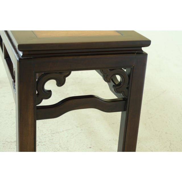 1990s Drexel Chinese Oriental Style Modern Design Sofa Table For Sale - Image 5 of 7