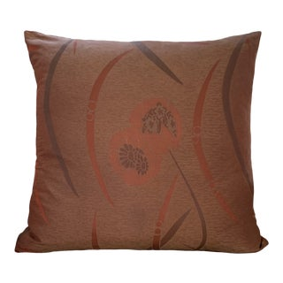 Japonesque Silk Patterned Pillow For Sale