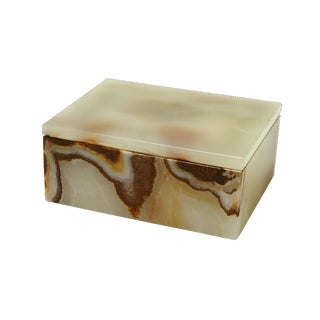 Light Green Onyx Keepsake Box For Sale
