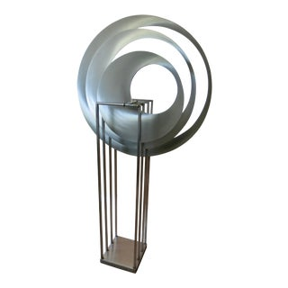 1990s Kinetic Stainless Steel Sculpture Floor Design Signed/Dated Bruce Stillman For Sale