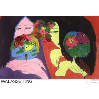 Walasse Ting, Little Whisper, Offset Lithograph, 1974 For Sale